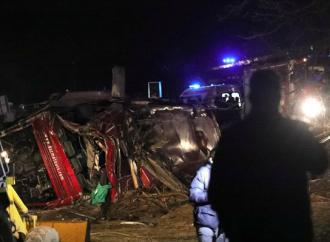 Στους 14 οι νεκροί από την ανατροπή λεωφορείου στα Σκόπια