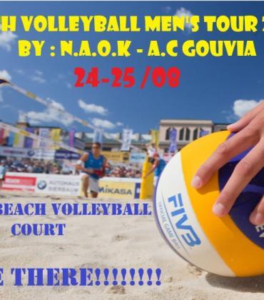 Men΄s Beach Volleyball Tournament at NAOK 24-25 August