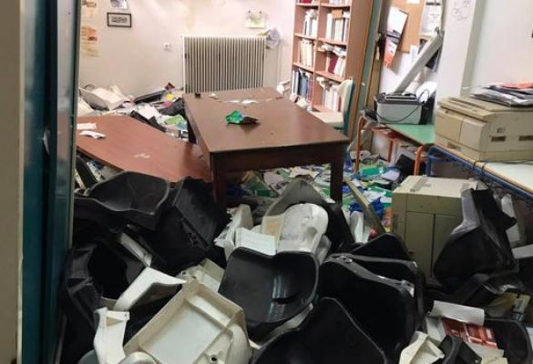 Unknown when in-person lessons will begin at 1st Vocational High following vandalism
