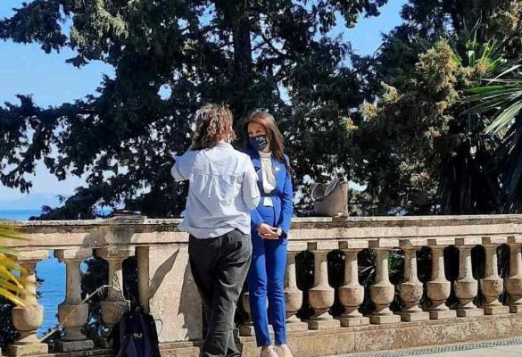 International media in Corfu following death of Prince Philip