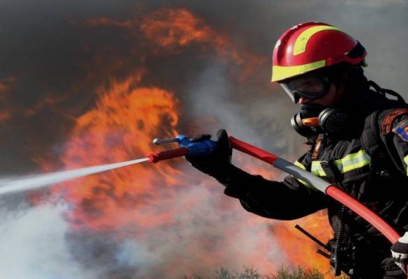 Φωτιά στο ΧΥΤΑ Λευκίμμης