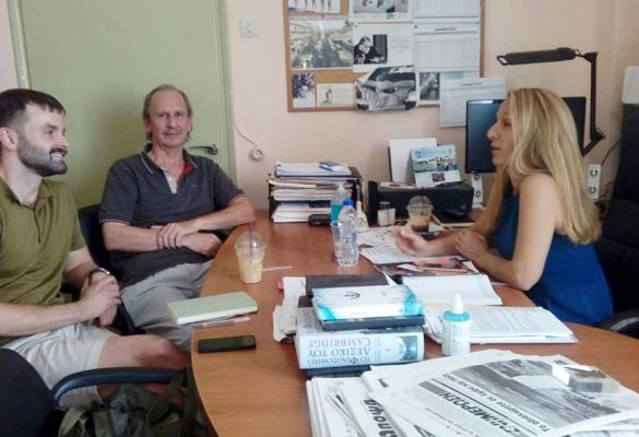 Foreign journalists coming to Corfu to write about the refuse problem