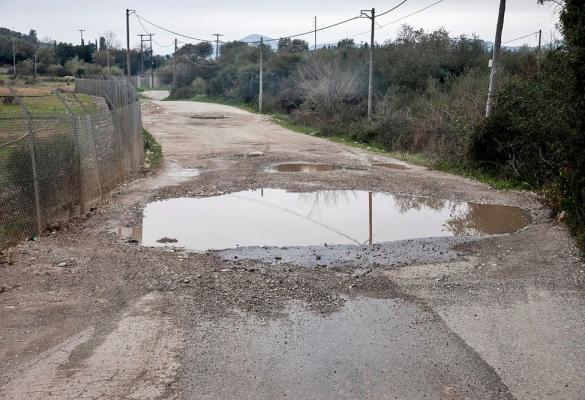 Ο δρόμος προς τον ΧΥΤΑ Τεμπλονίου στη νέα εργολαβία για τις λακκούβες (φωτογραφίες)