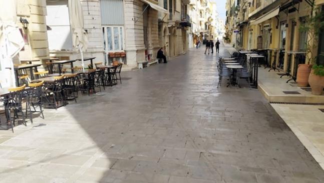 Αποτέλεσμα εικόνας για Μειωμένη η κίνηση στο κέντρο της πόλης της Κέρκυρας