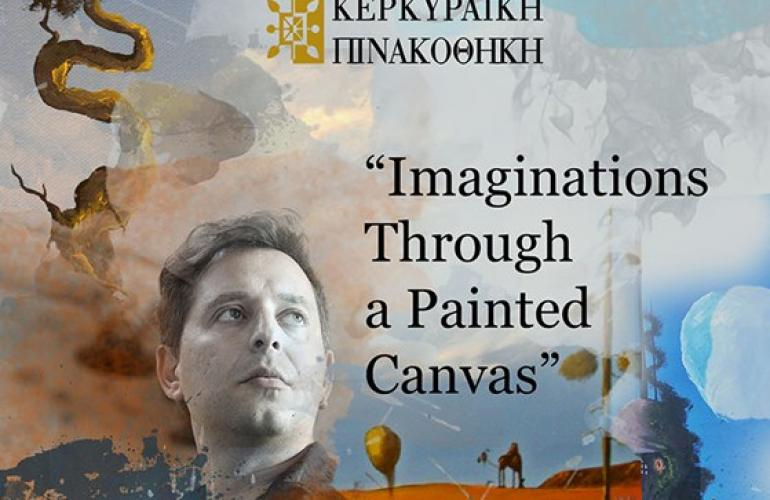 spyros gelekas art exhibition imaginations through a painted canvas